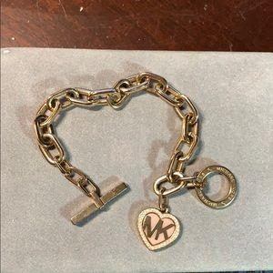 Authentic Michael Kors toggle heart bracelet